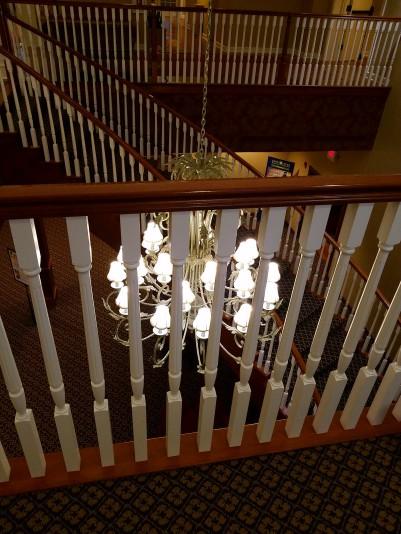A beautiful chandelier.