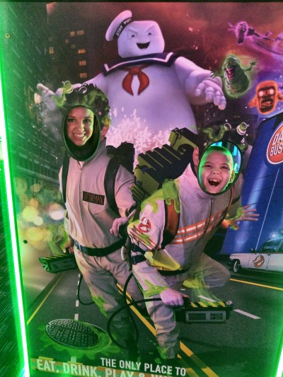 My son and I as Ghostbusters.