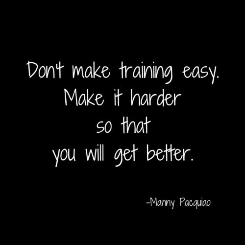 Don't make training