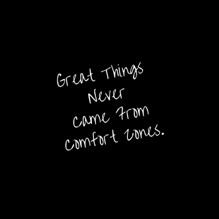 Great Things NeverCame FromComfort Zones.