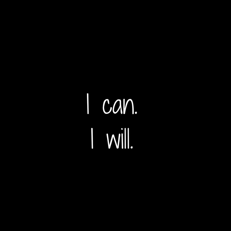 I can.I will.